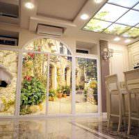 Декорирование потолка с помощью окна-имитации