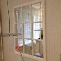 Зеркальное окно из специальной плитки