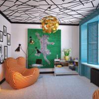 Дизайн комнаты загородного дома в современном стиле