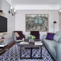 Дизайн маленькой гостиной в современной квартире