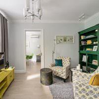 Интерьер современной гостиной без дивана