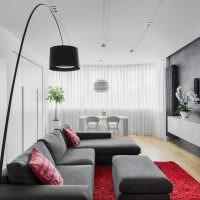 Черный плафон напольного светильника