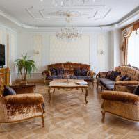 Оформление диванной группы в классическом стиле