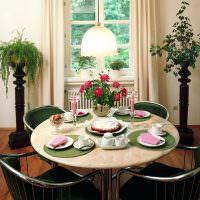 Обеденный стол круглой формы