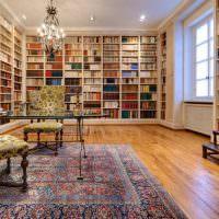 Интерьер библиотеки в загородной вилле