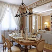 Оформление столовой зоны на кухне городской квартиры