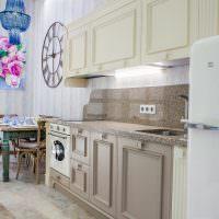 Ретро мебель на кухне частного дома