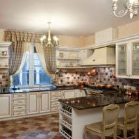 Планировка кухни с полуостров в загородном доме