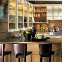 Подсветка кухонных шкафов со стеклянными дверками