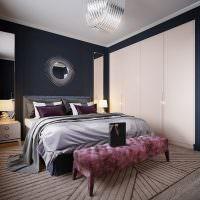 Встроенный шкаф в спальне стиля арт-деко
