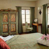 Спальня с двумя окнами в стиле прованс
