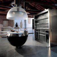 Футуристический остров в дизайне кухни