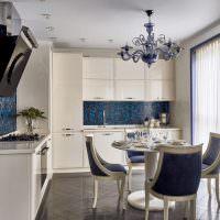 Синий цвет в оформлении кухонного пространства