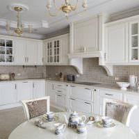 Классический стиль в оформлении кухни