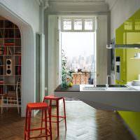 Глянцевые фасады кухонного гарнитура