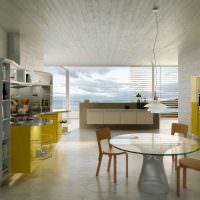 Желтый цвет в интерьере современной кухни