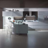 Серая кухня в стиле минимализма