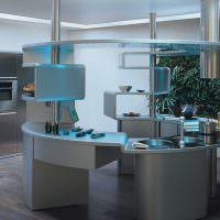 Дизайн круглой кухни в современном стиле