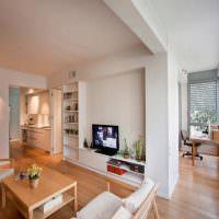 Белые стены в однокомнатной квартире