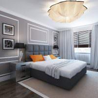 Декор картинами стен спальни