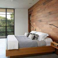 Декориррование стены деревянными панелями