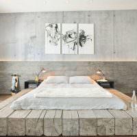 Матрас на деревянных брусьях вместо привычной кровати
