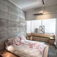Дизайн спальни с присоединенным балконом