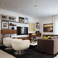 Фотографии в интерьере современной гостиной