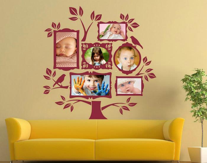 Фотографии детей в качестве декора стен