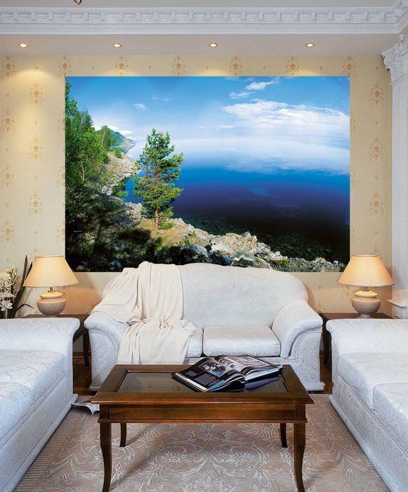 Фотообои с изображением скалистого берега