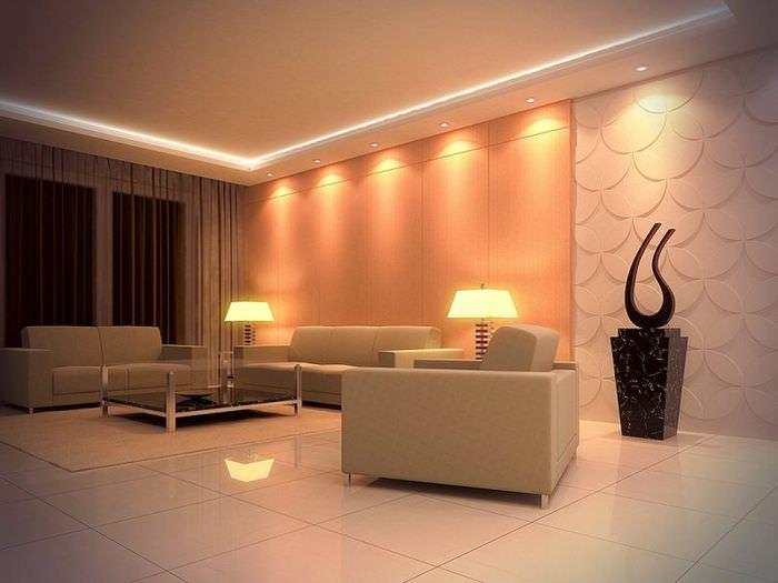 Красивая гостевая комната в стиле модерн