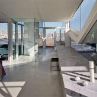 Квартира в светлых тонах в индустриальном стиле