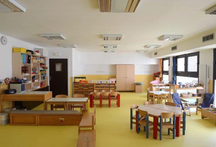 Интерьер группы для детей старшей группы детского сада