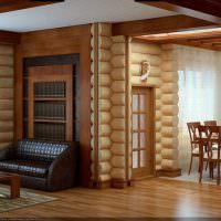 Дизайн интерьера срубового дома