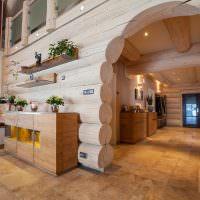 Керамогранитный пол в деревянном доме