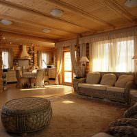Вагонка в отделке потолка деревянного дома