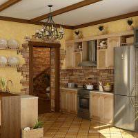 Деревенская кухня в стиле кантри