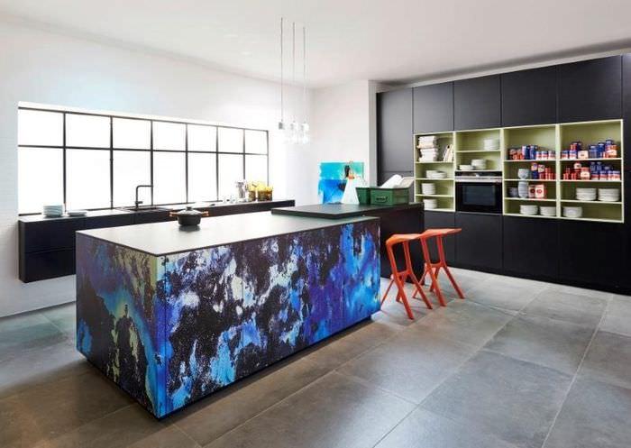 Интерьер кухни в космическом стиле