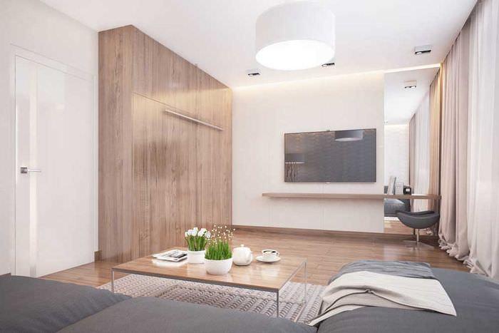 Дизайн маленькой гостиной в стиле минимализма