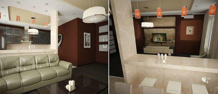 Интерьер квартиры серии п44т с тремя жилыми комнатами