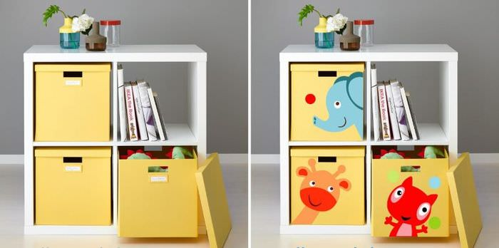 Декор детской мебели красивыми наклейками