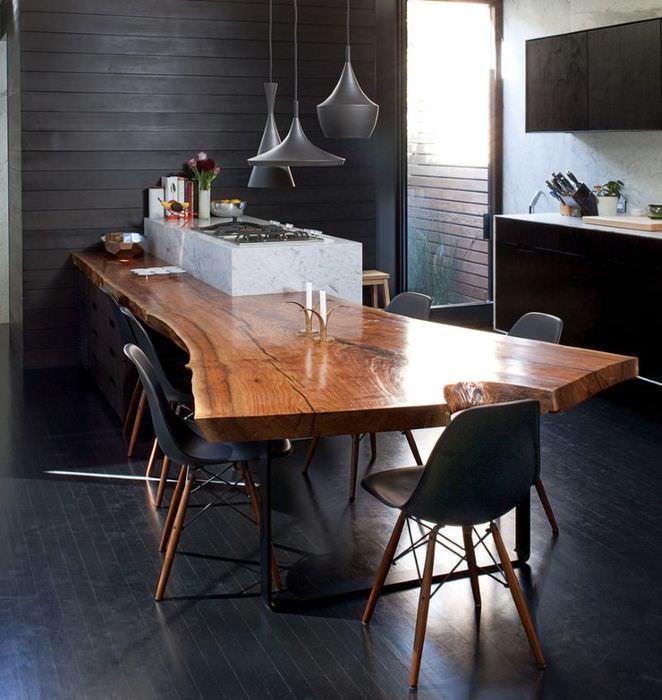 Оригинальная столешница обеденного стола
