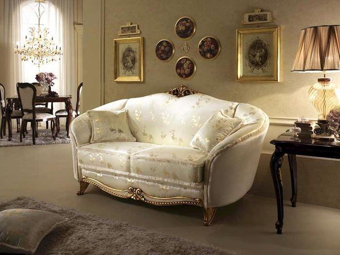 Интерьер гостиной в стиле классики