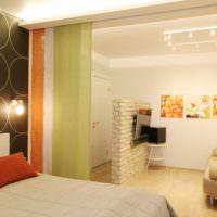 Зонирование квартиры с помощью японских штор