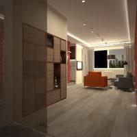 Интерьер гостиной с элементами лофта