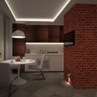 Обустройство обеденной зоне в трехкомнатной квартире
