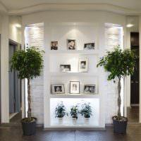 Комнатные растения в интерьере прихожей
