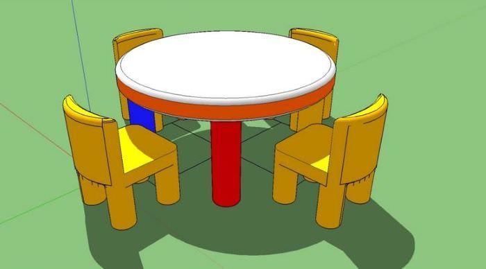3D-модель детской мебели в программе ScetchUp