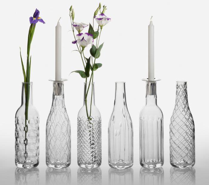 Стеклянные вазы из бутылок своими руками