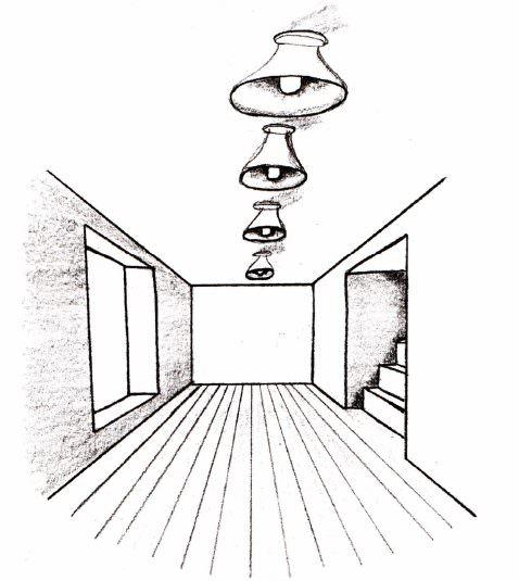 Готовый рисунок комнаты без мебели